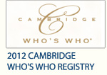 2012 Cambridge Who's Who Registry