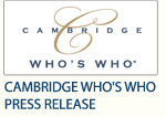 Cambridge Who's Who - Press Release